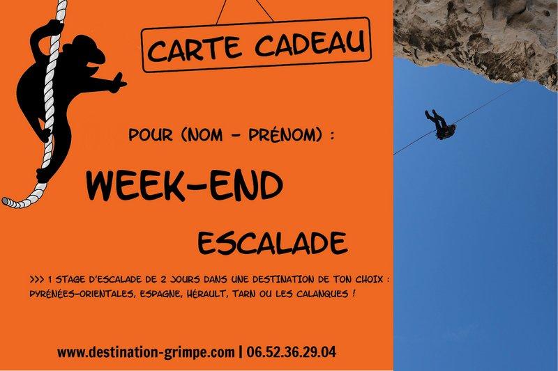 Carte Cadeau Week End.Carte Cadeau Cours Et Stages D Escalade Destination Grimpe